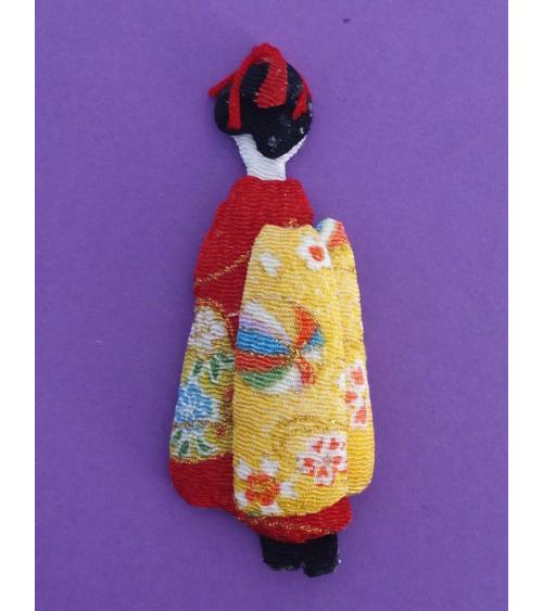 Broche japonés geisha