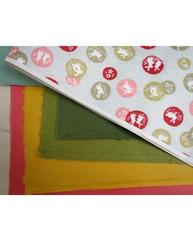 Papel japonés flok craft mingeishi