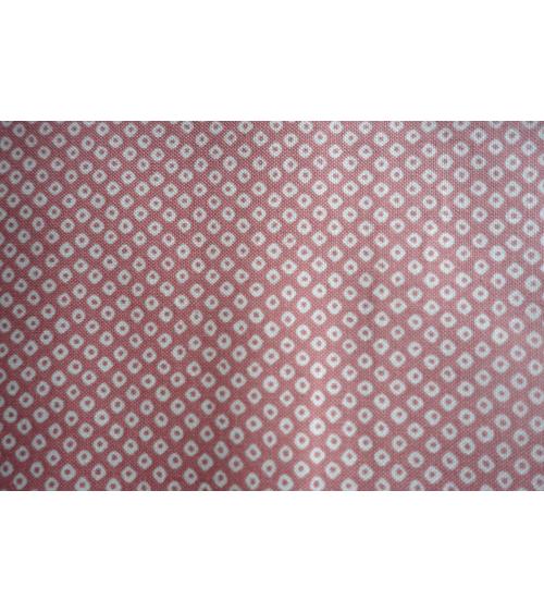 Tela japonesa. Shibori rosa palo