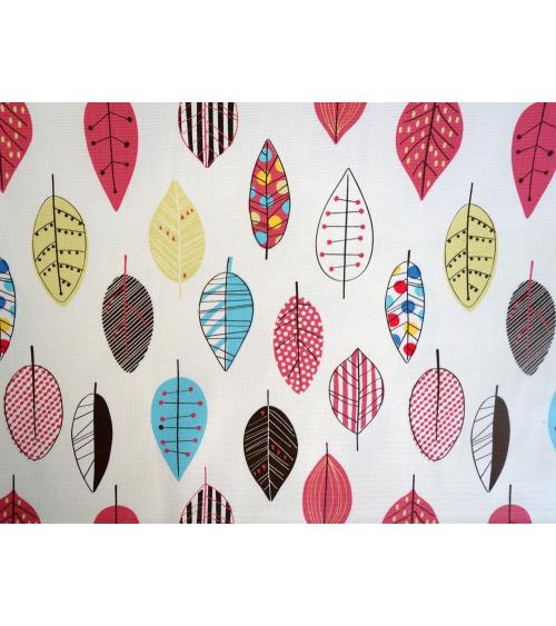 Tela japonesa. Hojas multicolores
