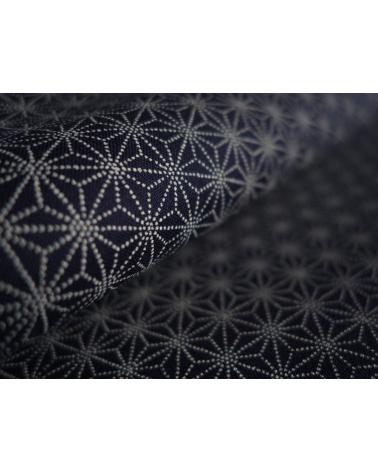 Tela japonesa. Asanoha sobre azul índigo