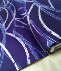 Tela de algodón con motivo de tallos de bambú