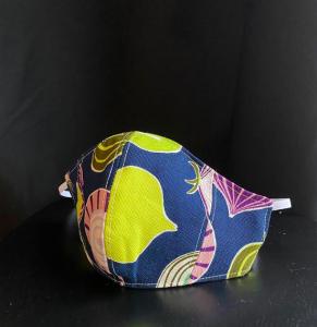 Mascarilla con tela japonesa de cebollas
